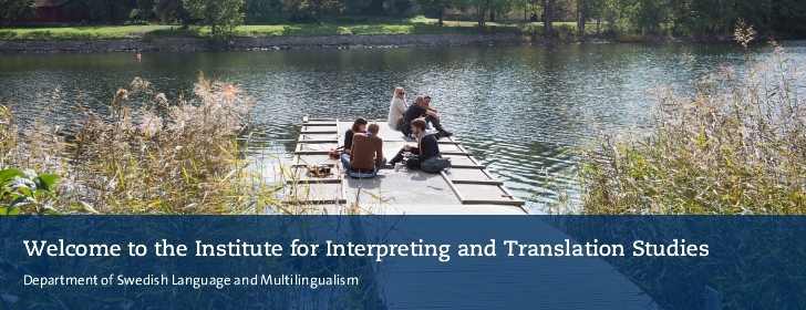 Welcome to the Institutet for Interpreting and Translation Studies. Student in winter environment