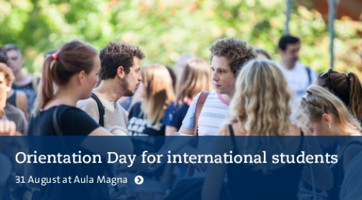 Orientation Day for international students. 21 August at Aula Magna. Photo: Niklas Björling