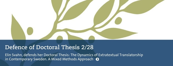Defence of Doctoral Thesis 2/28
